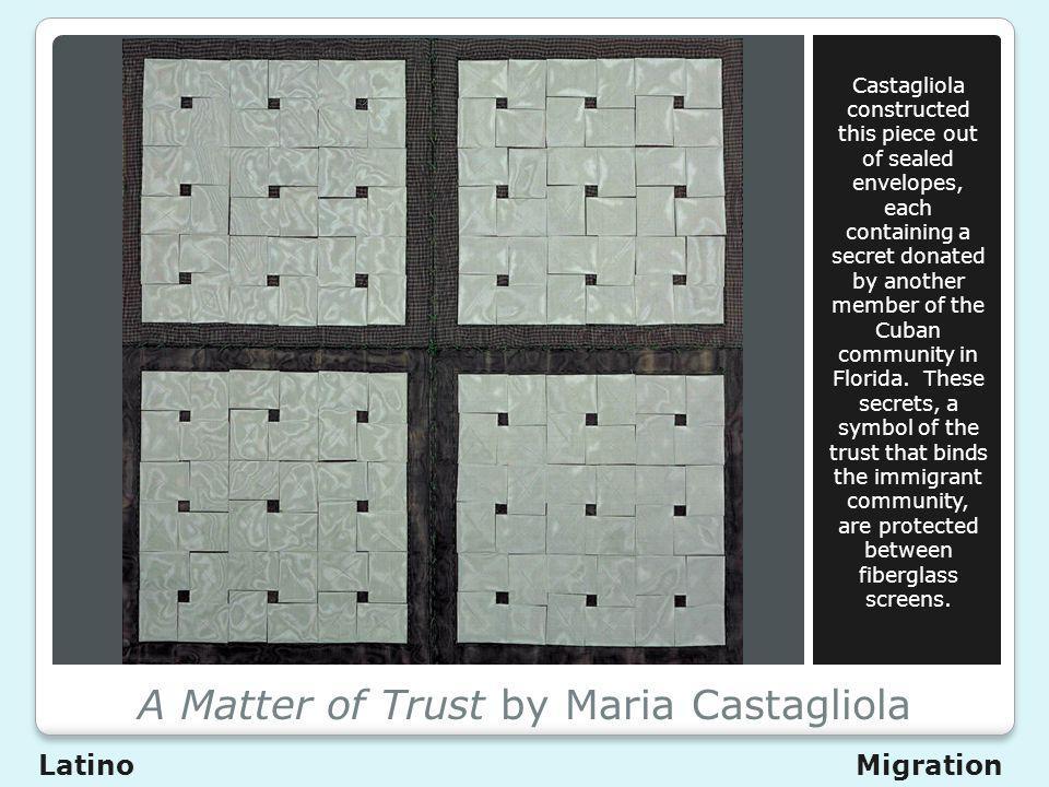 A Matter of Trust by Maria Castagliola