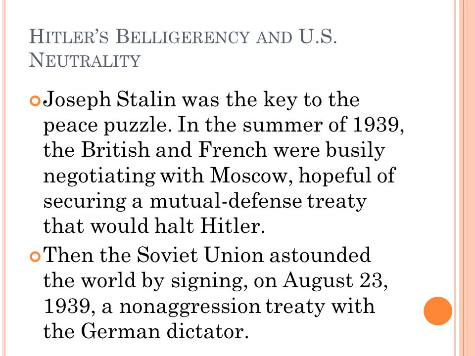 Hitler's Belligerency and U.S. Neutrality