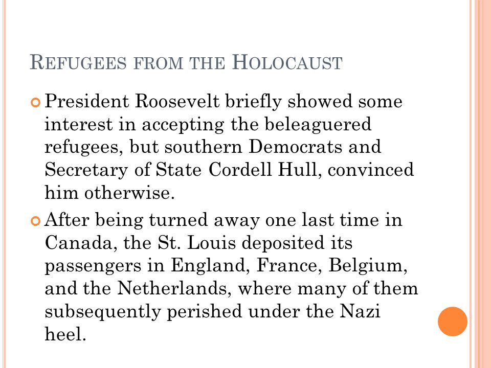 Refugees from the Holocaust
