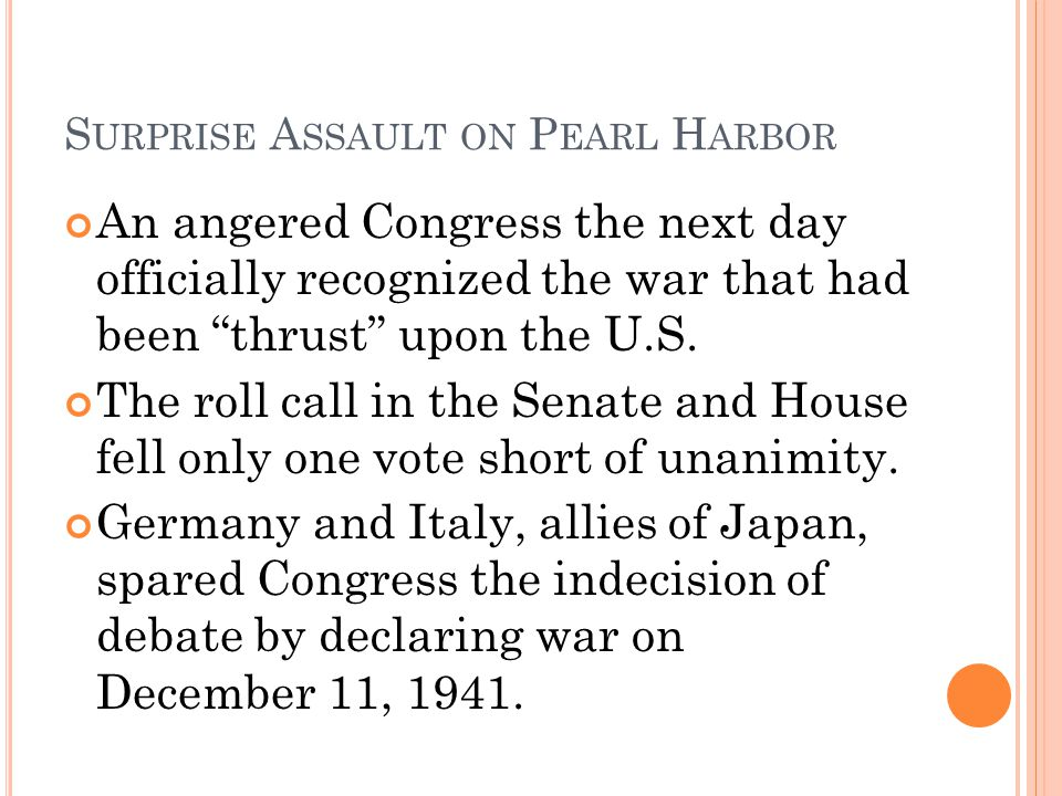 Surprise Assault on Pearl Harbor