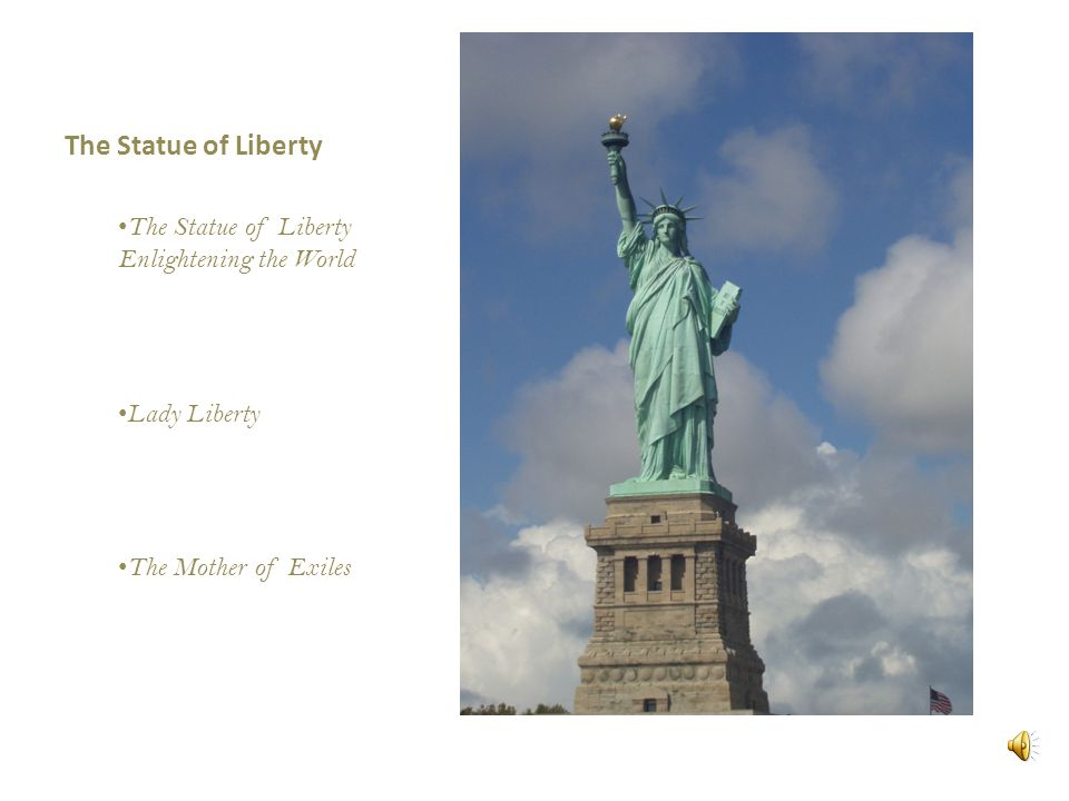 an introduction to the statue of liberty enlightening the world Frédéric auguste bartholdi (french: [fʁedeʁik oɡyst baʁtɔldi] 2 august 1834 – 4 october 1904) was a french sculptor who is best known for designing liberty enlightening the world, commonly known as the statue of liberty.