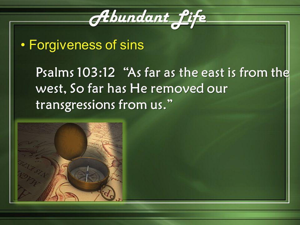 Abundant Life Forgiveness of sins