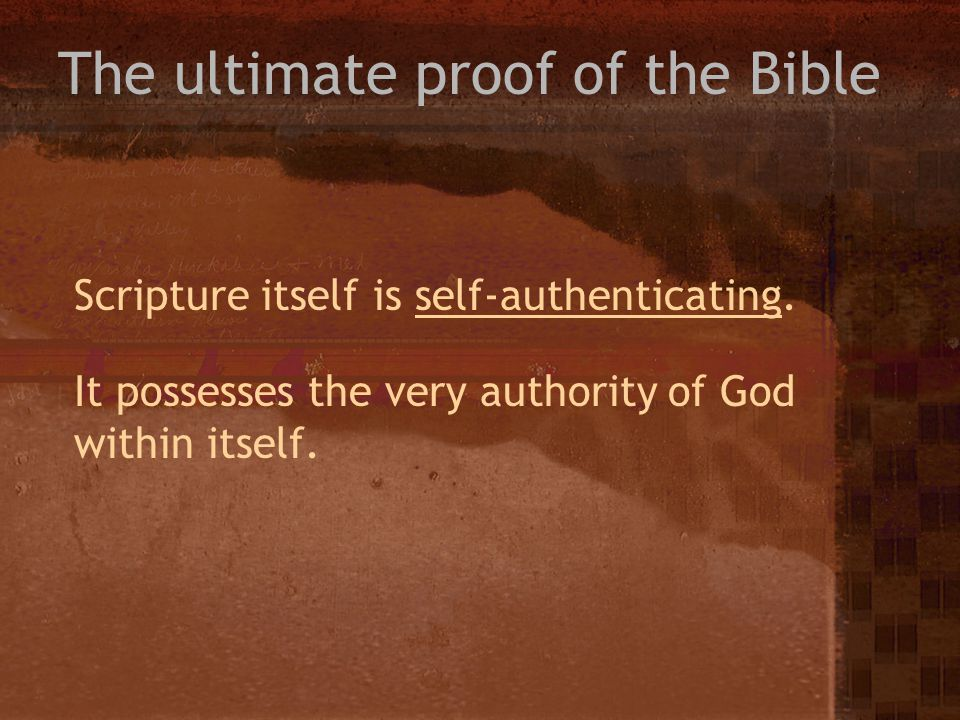 The ultimate proof of the Bible
