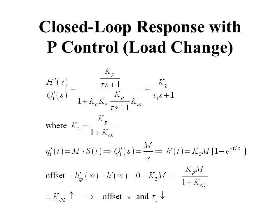 Closed-Loop Response with P Control (Load Change)