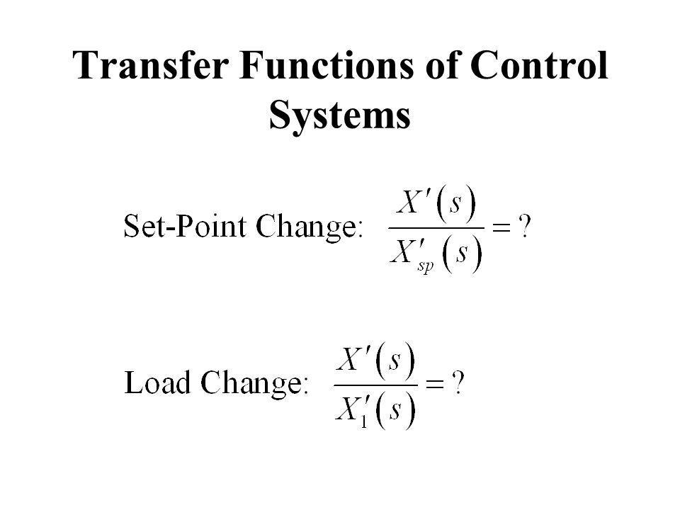 Transfer Functions of Control Systems