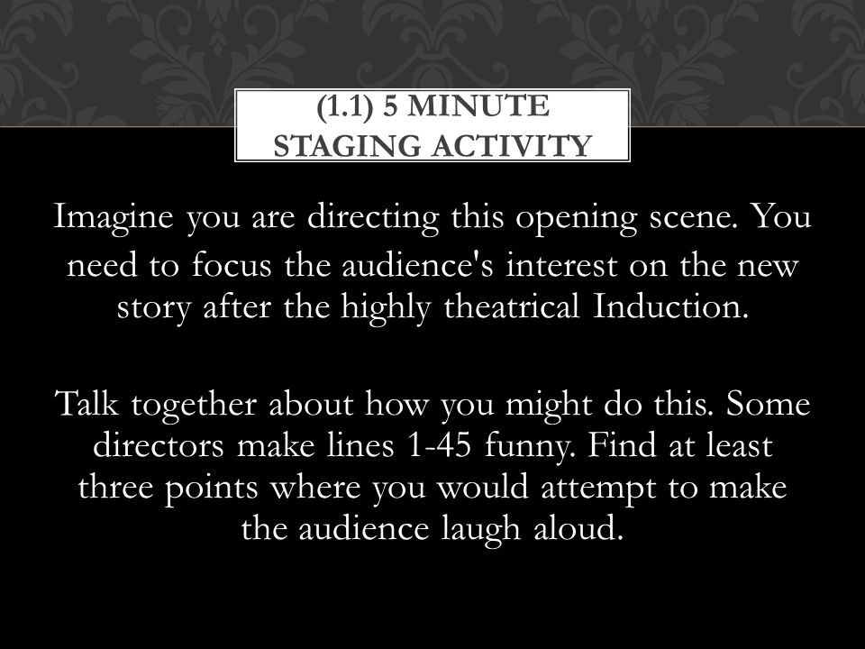 (1.1) 5 Minute Staging Activity