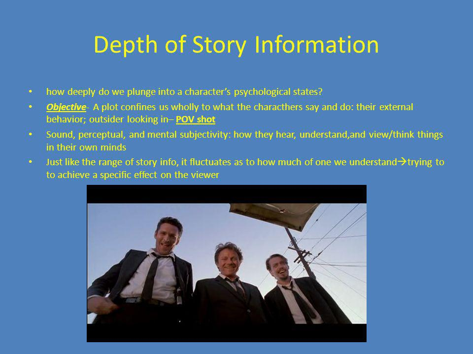 Depth of Story Information