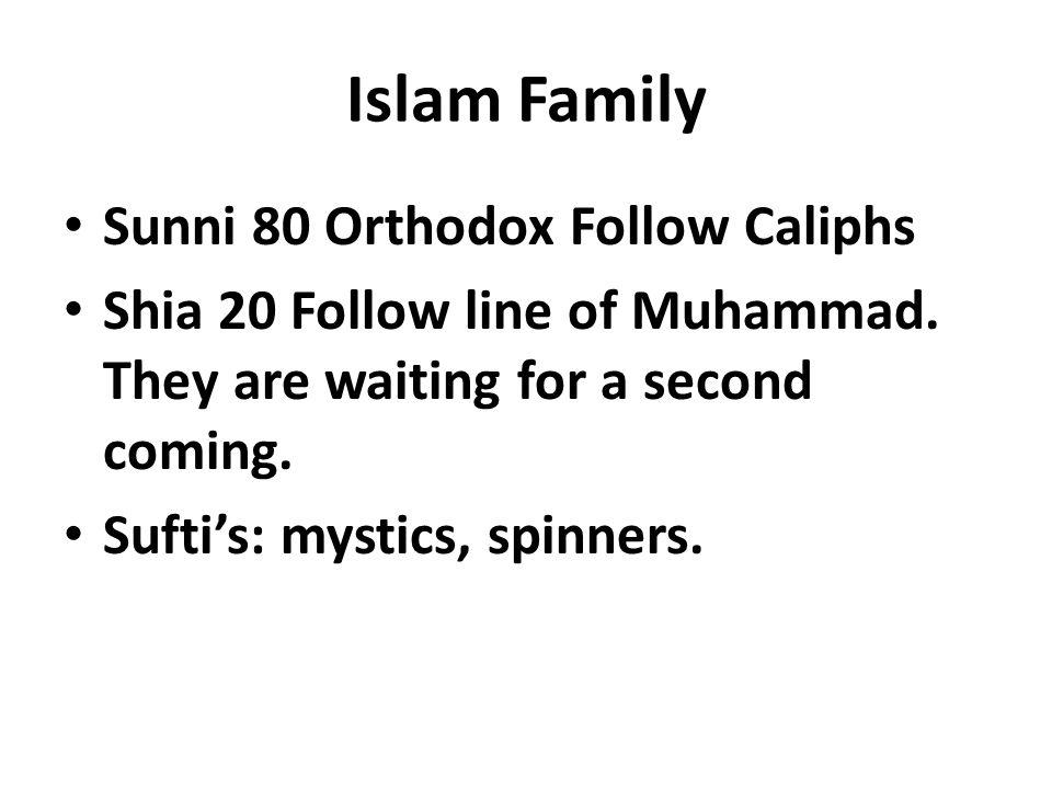 Islam Family Sunni 80 Orthodox Follow Caliphs