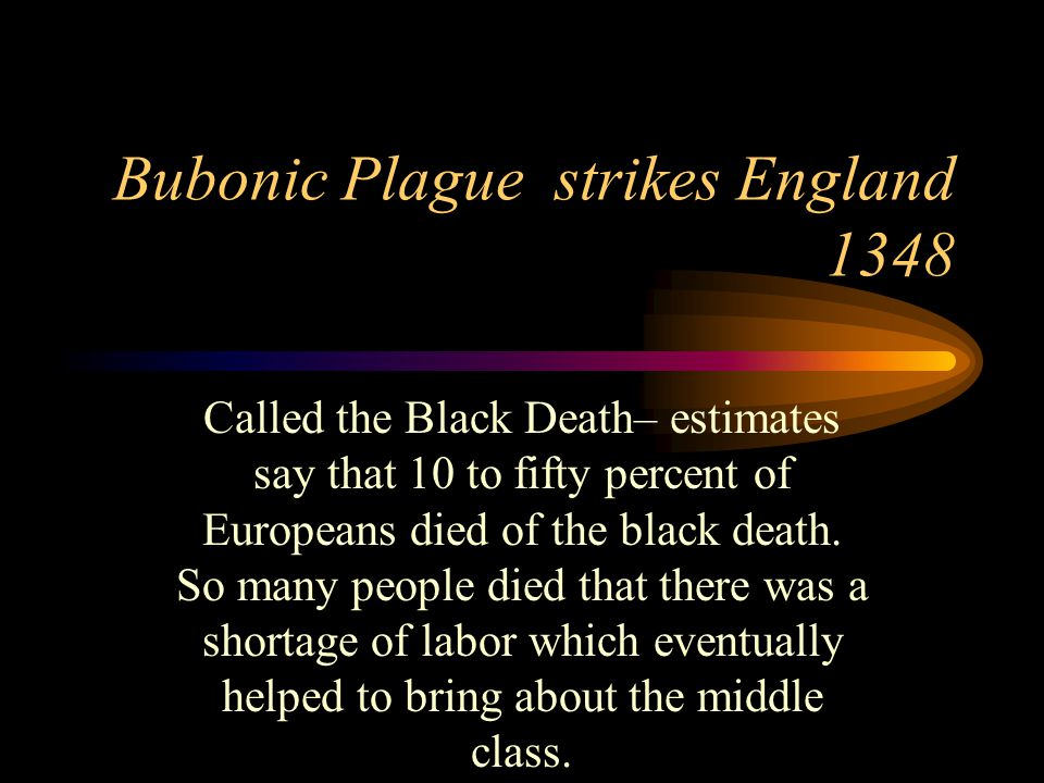 Bubonic Plague strikes England 1348
