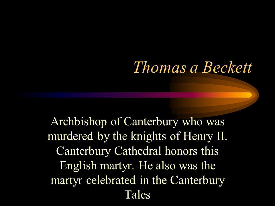 Thomas a Beckett