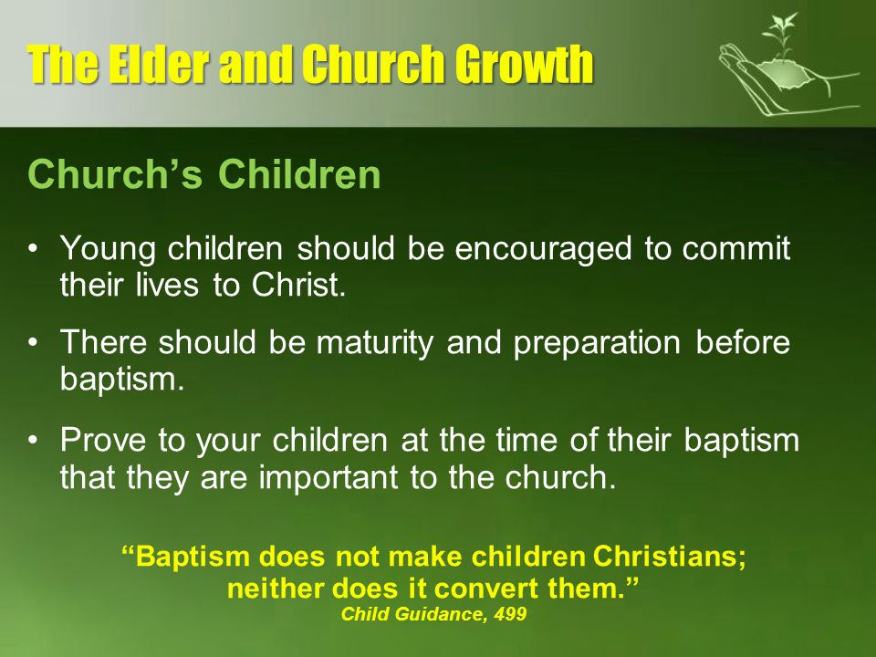 The Elder and Church Growth