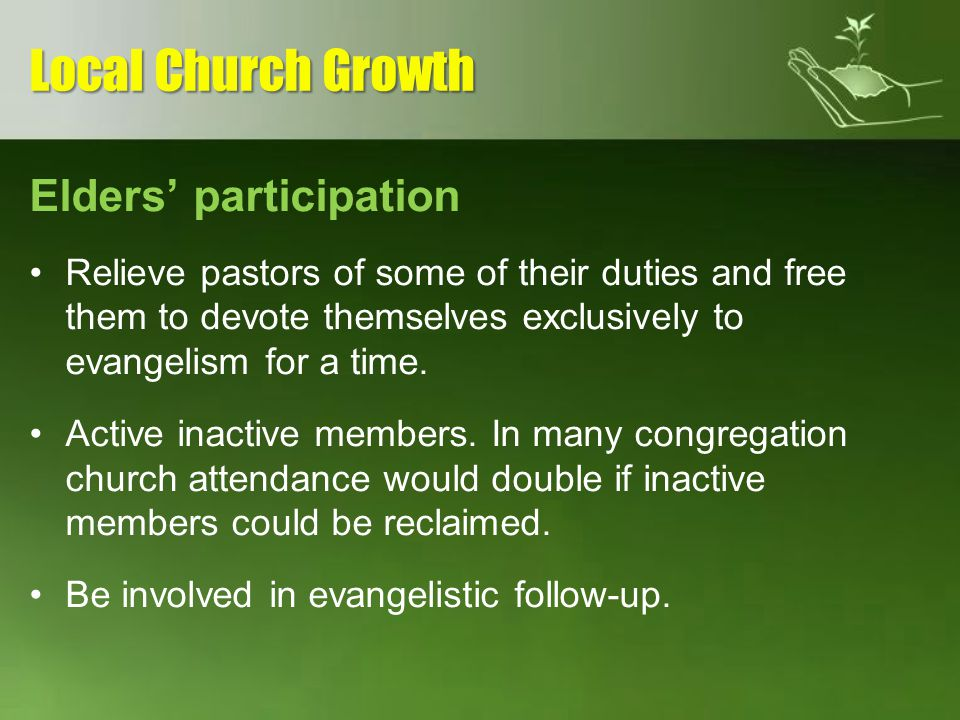 Local Church Growth Elders' participation