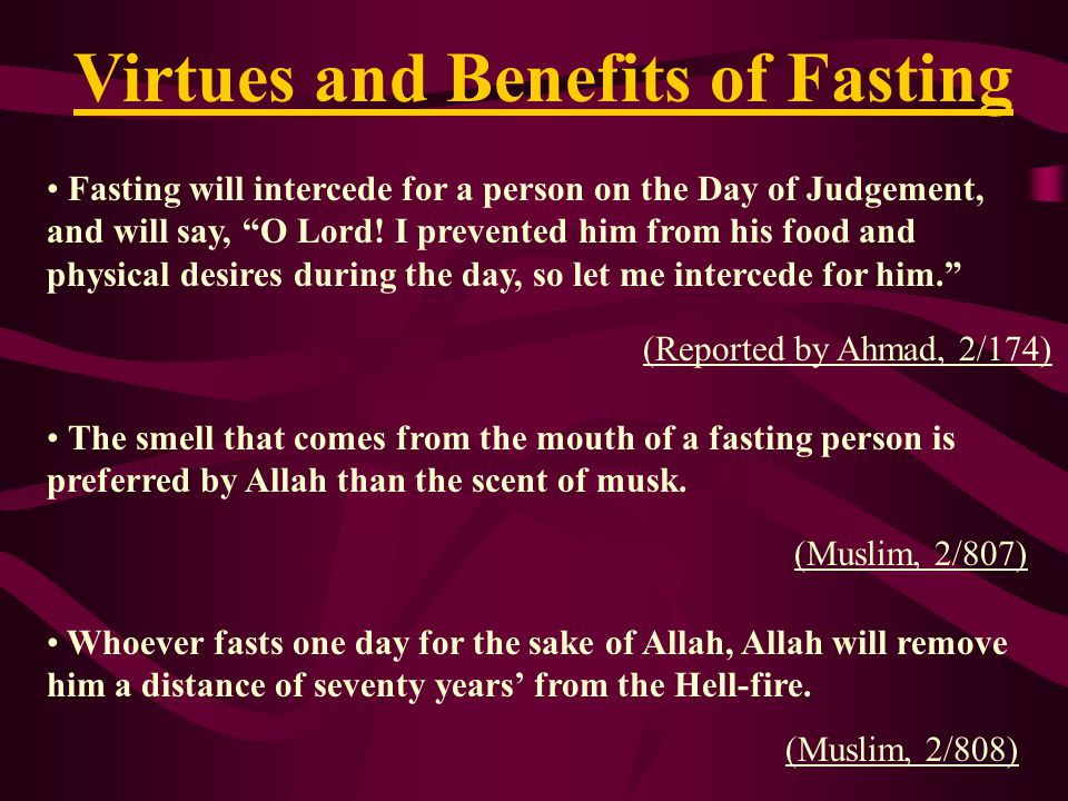 Virtues and Benefits of Fasting