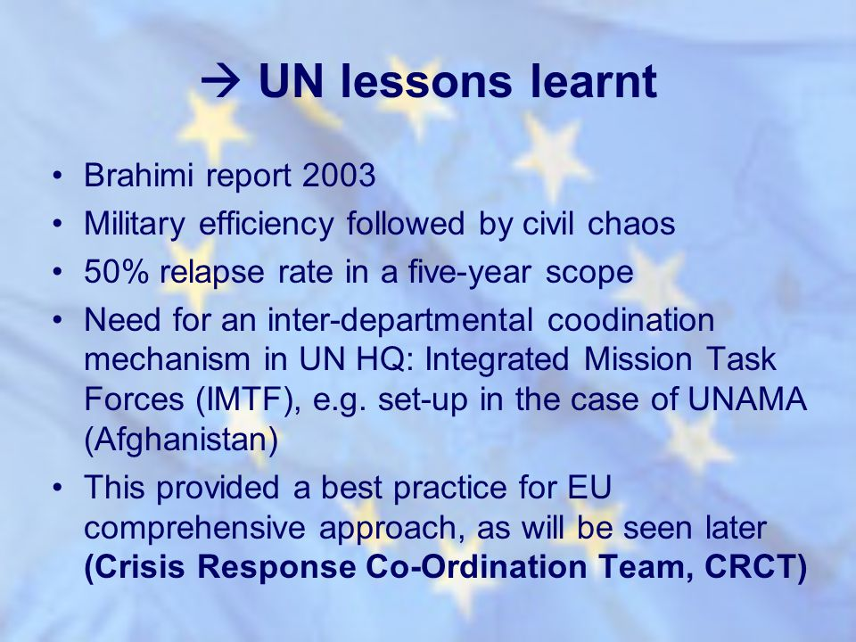  UN lessons learnt Brahimi report 2003