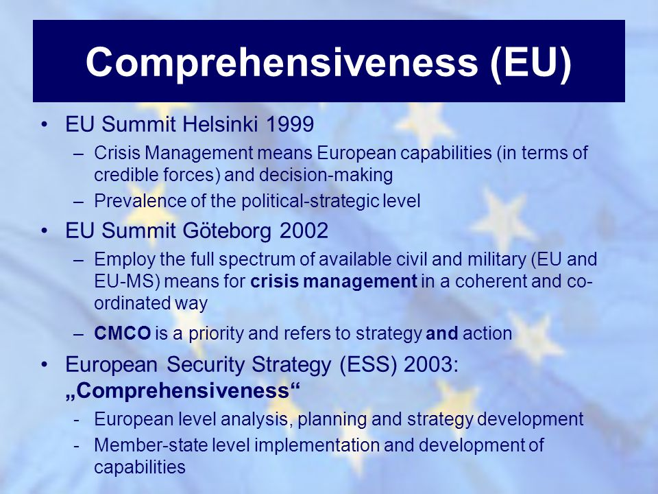 Comprehensiveness (EU)