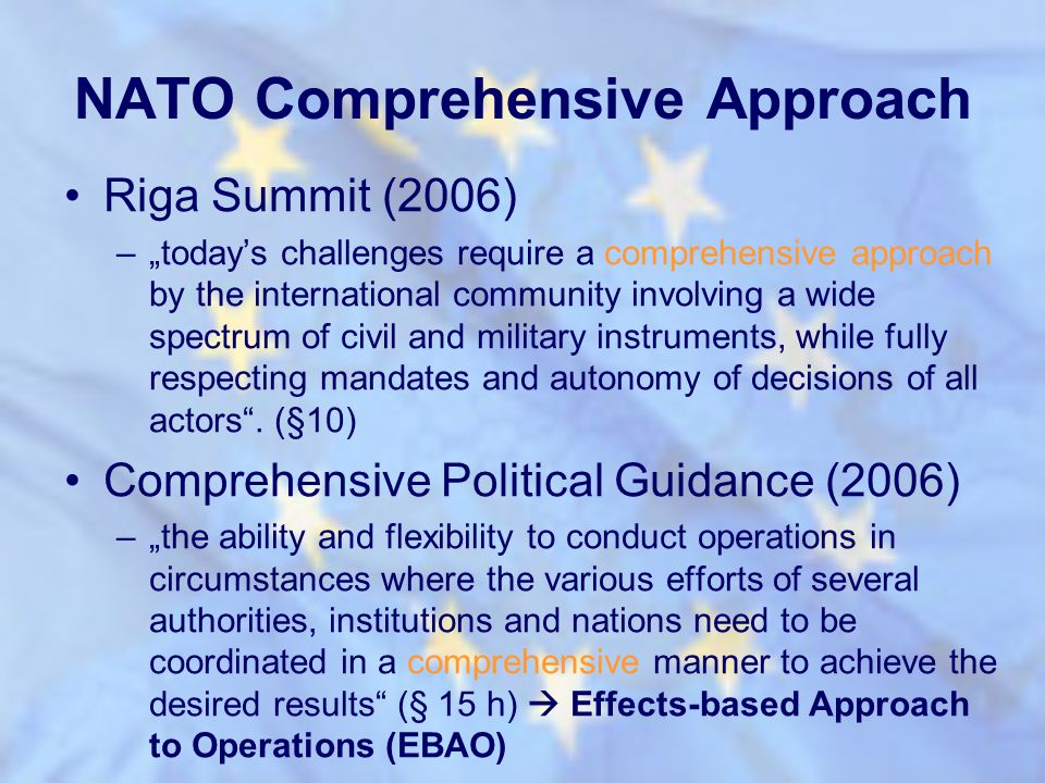 NATO Comprehensive Approach