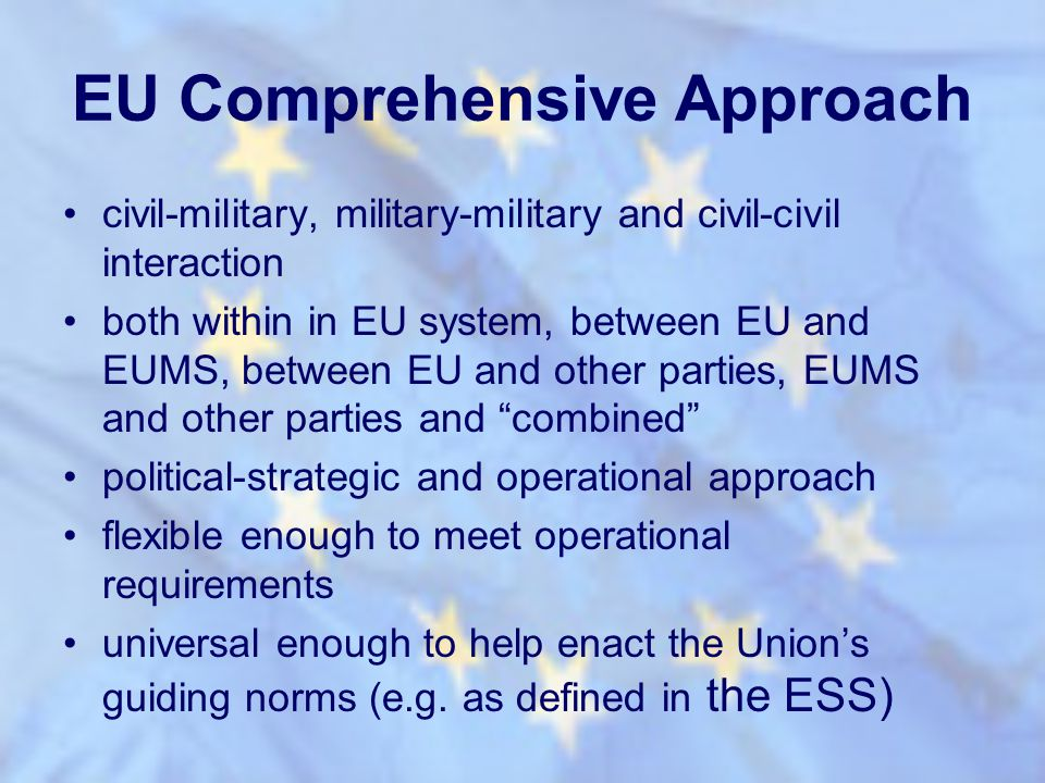 EU Comprehensive Approach