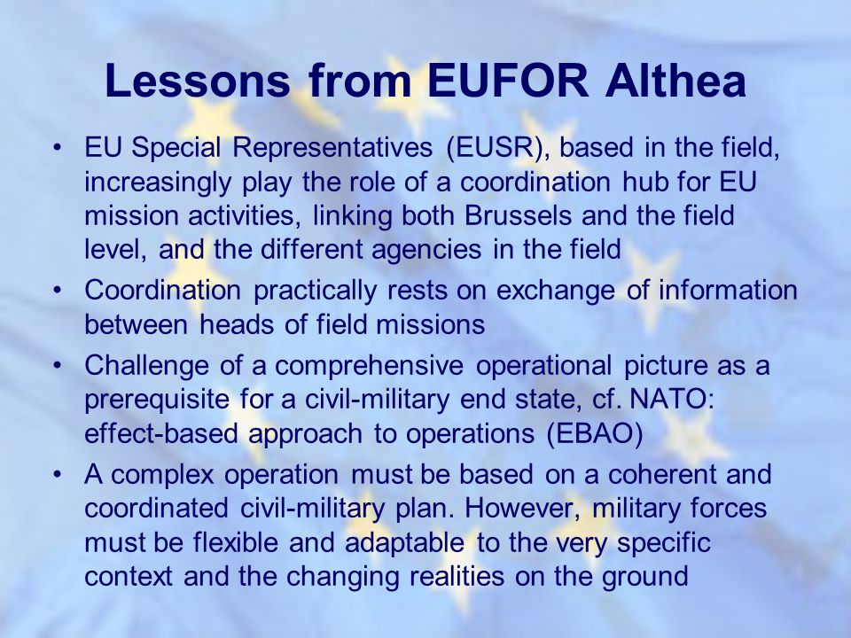 Lessons from EUFOR Althea