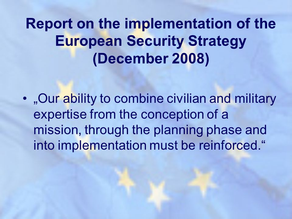 Report on the implementation of the European Security Strategy (December 2008)