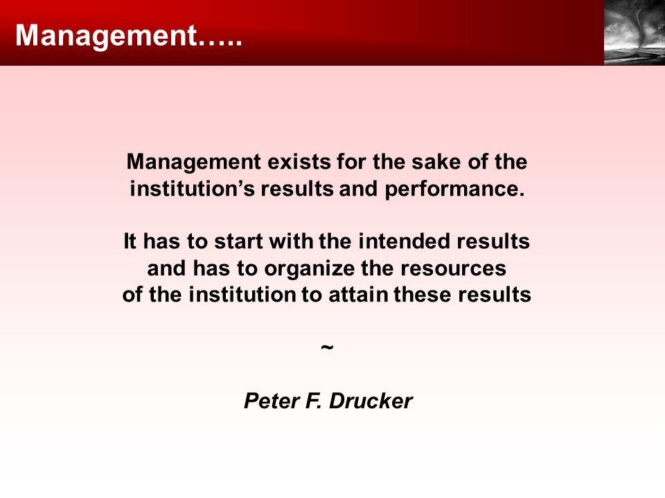 Management…..