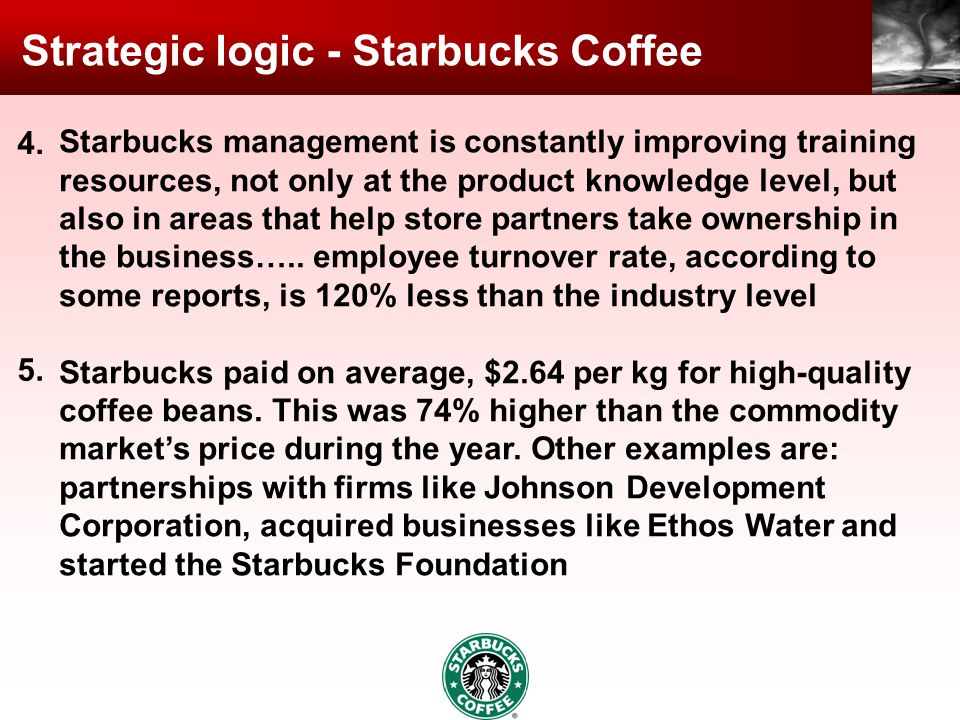 Strategic logic - Starbucks Coffee