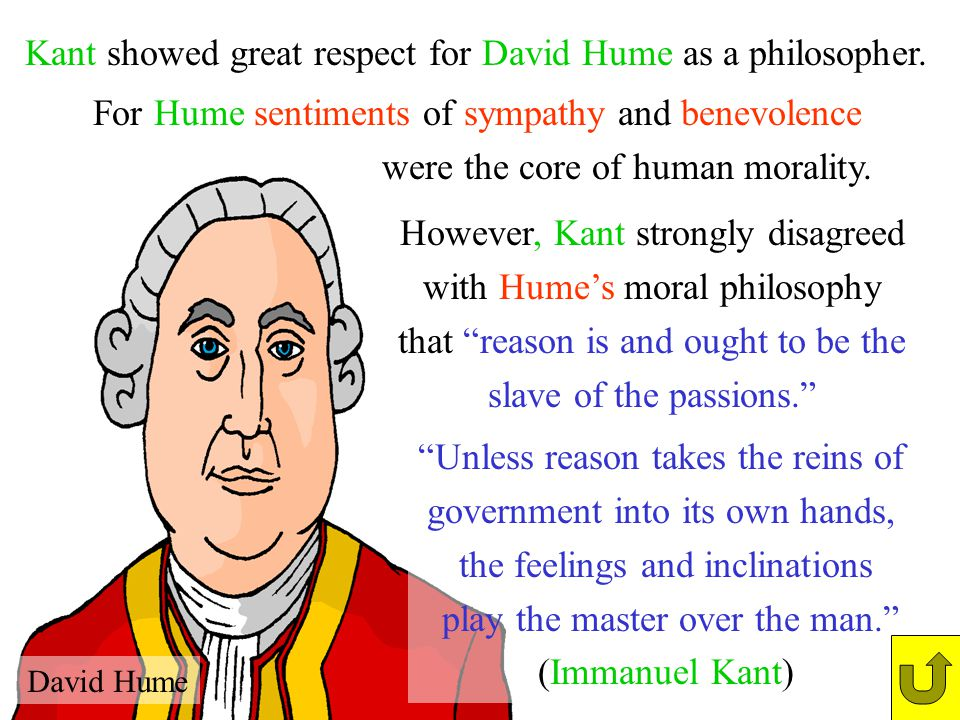 Kant showed great respect for David Hume as a philosopher.