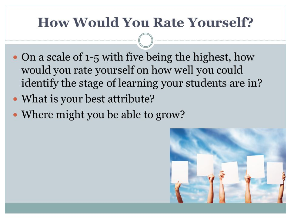 How Would You Rate Yourself