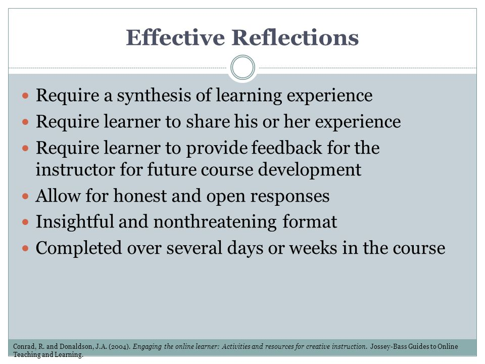 Effective Reflections