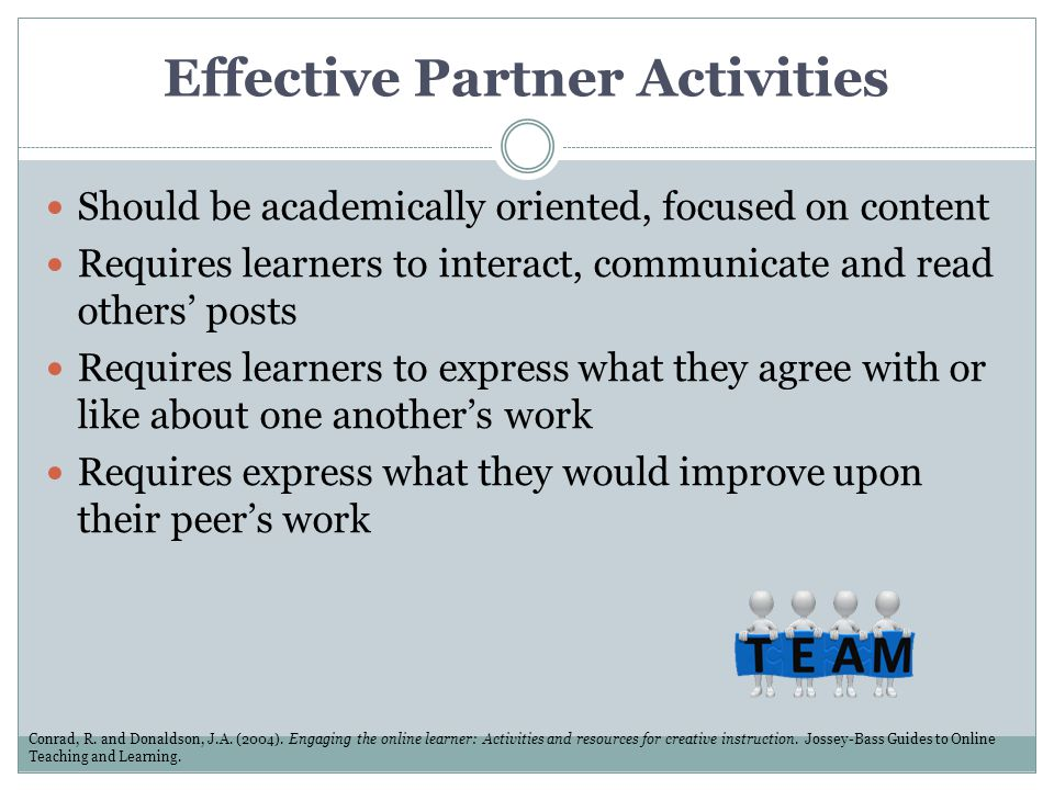 Effective Partner Activities