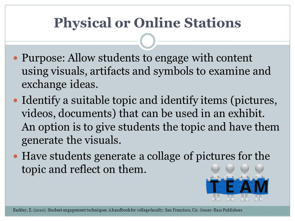 Physical or Online Stations