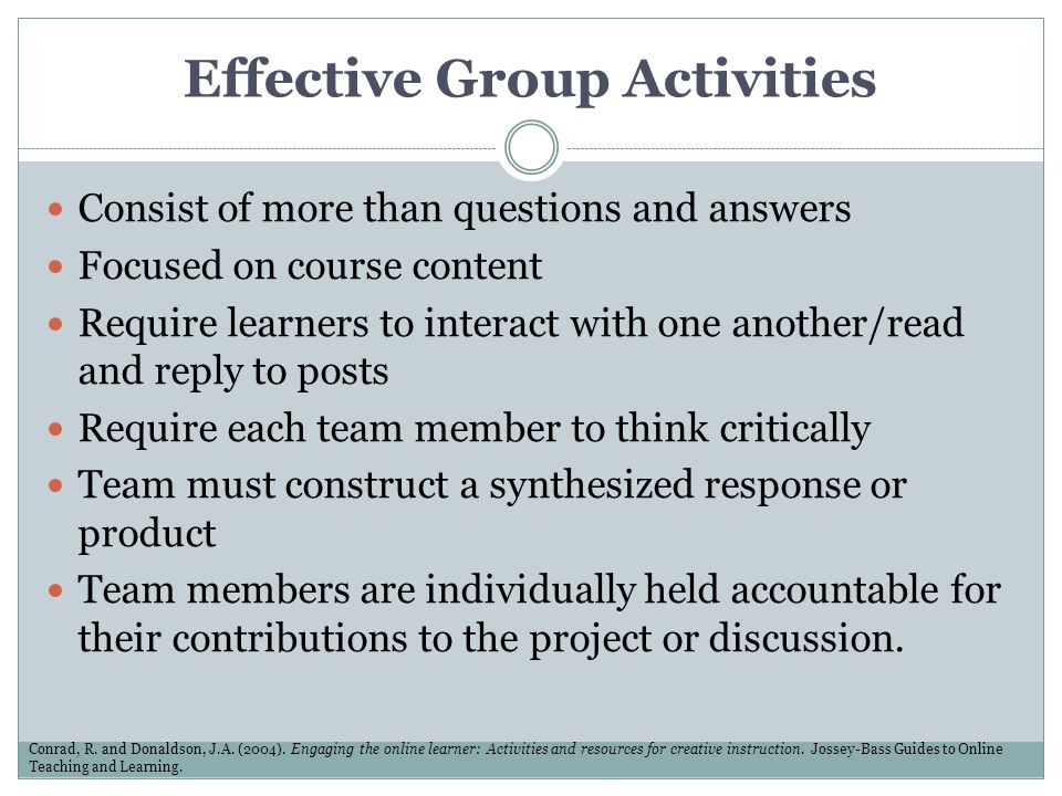 Effective Group Activities