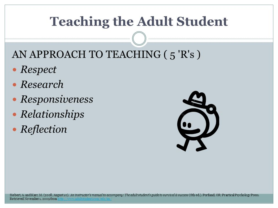 Teaching the Adult Student