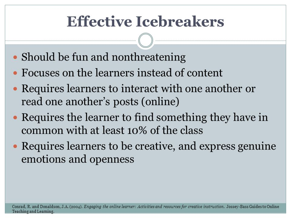Effective Icebreakers