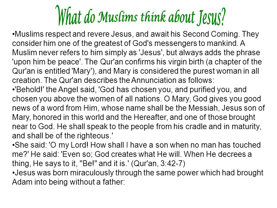 What do Muslims think about Jesus