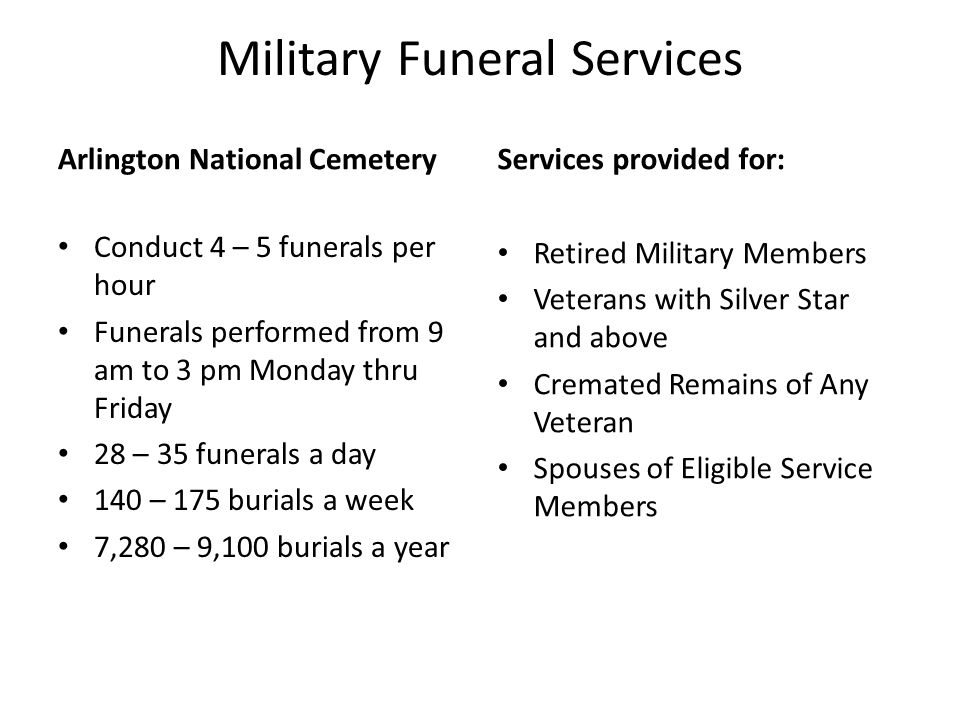 Military Funeral Services