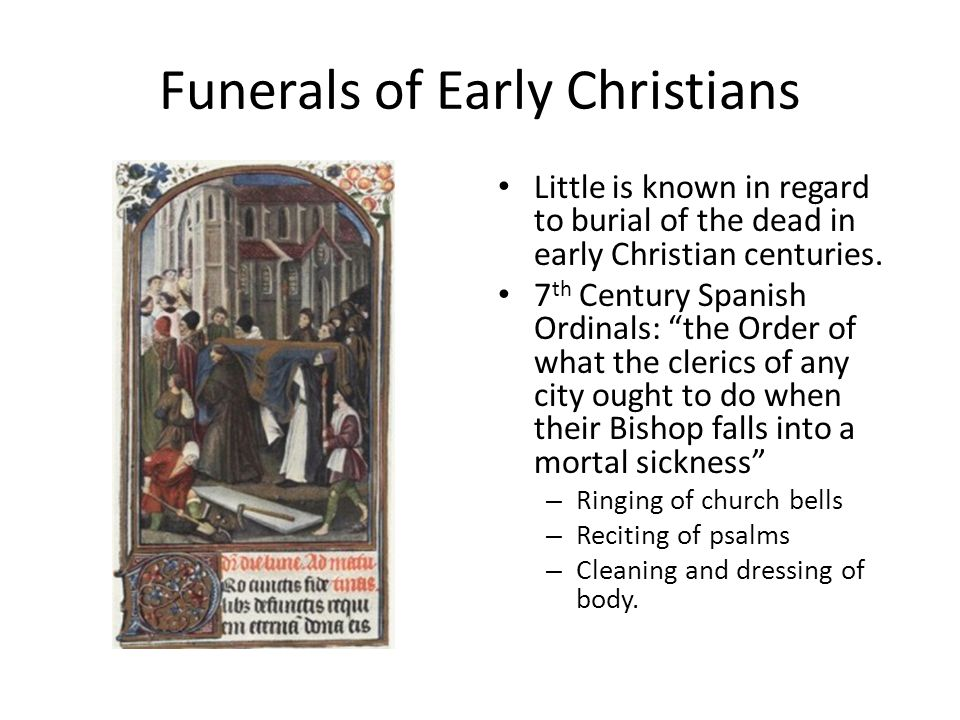 Funerals of Early Christians