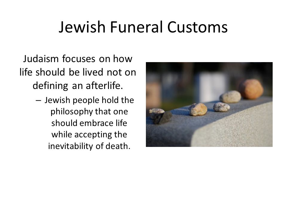 Jewish Funeral Customs