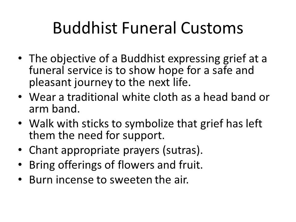 Buddhist Funeral Customs