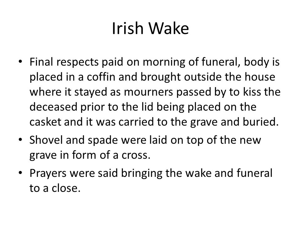 Irish Wake
