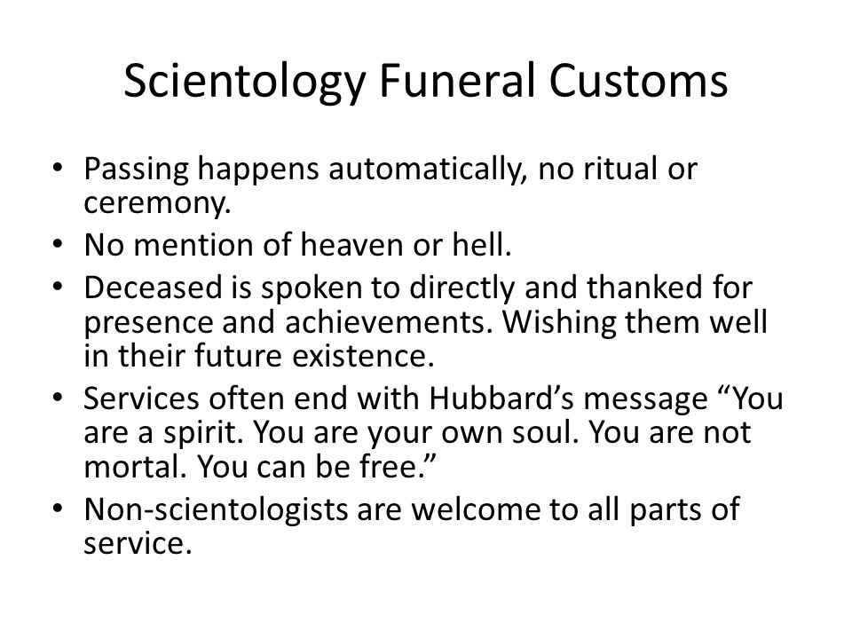 Scientology Funeral Customs