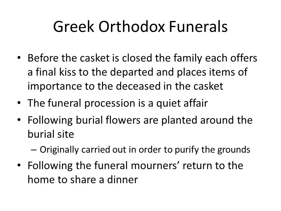 Greek Orthodox Funerals