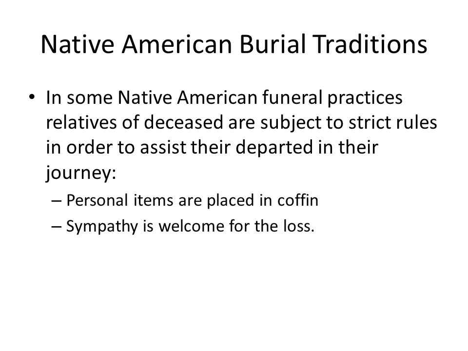 Native American Burial Traditions