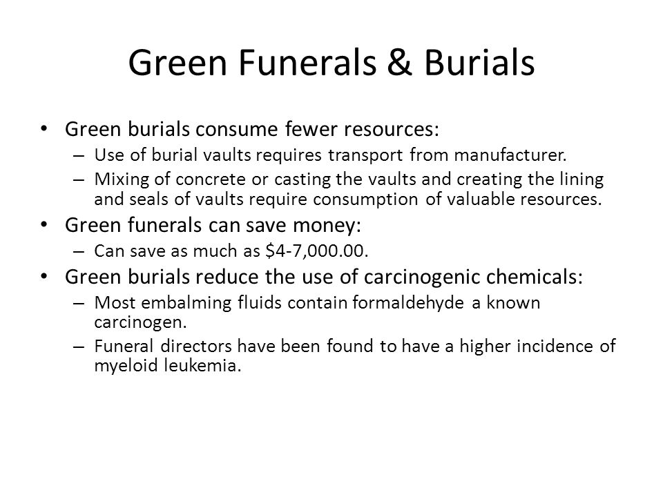 Green Funerals & Burials