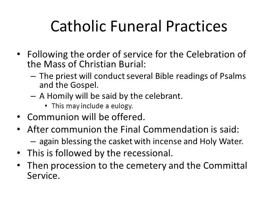 Catholic Funeral Practices
