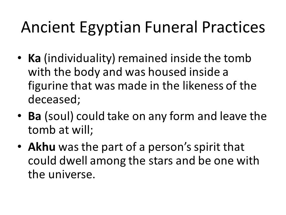 Ancient Egyptian Funeral Practices