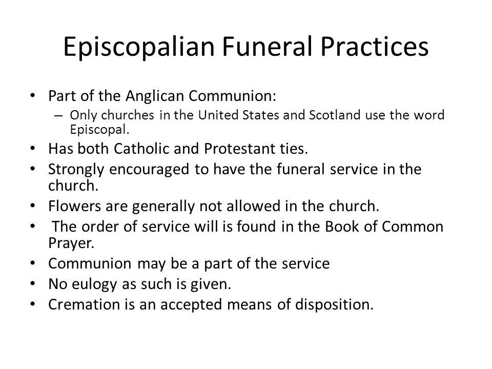 Episcopalian Funeral Practices
