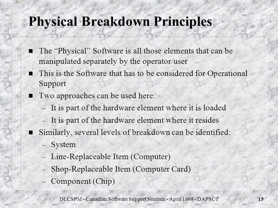 Physical Breakdown Principles