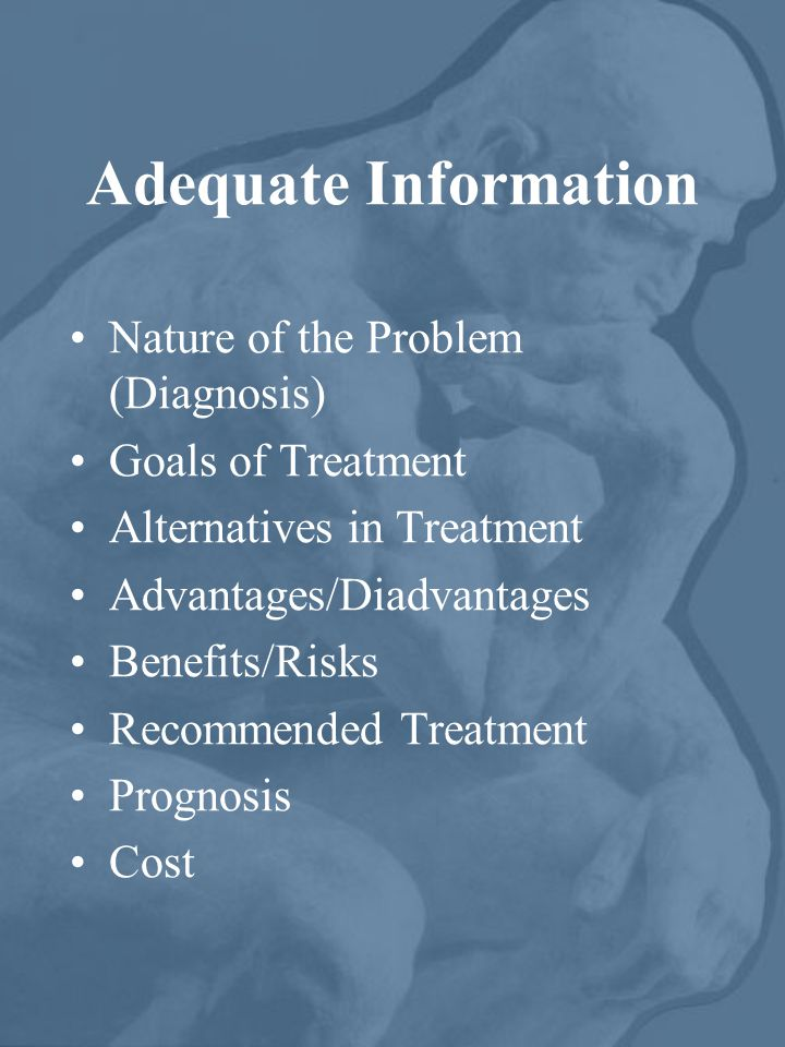 Adequate Information Nature of the Problem (Diagnosis)