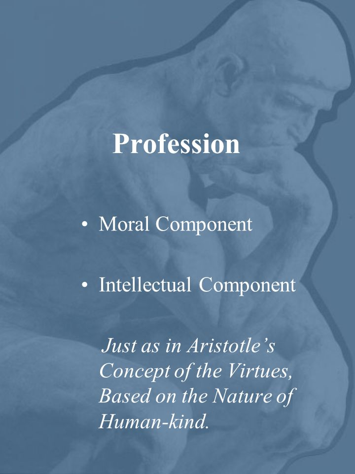 Profession Moral Component Intellectual Component