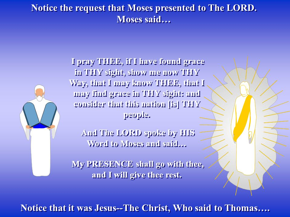 Notice the request that Moses presented to The LORD. Moses said…